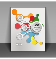 flyer with infographics vector image vector image