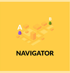 gps navigator street map with flat isometric vector image