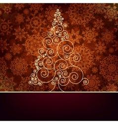 Retro christmas card Template EPS 10 vector image vector image