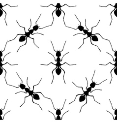 Seamless pattern with ant Formica exsecta hand vector image vector image