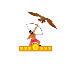 The third feat of Heracles Stymphalian birds vector image vector image