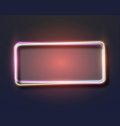 Vintage neon frame neon sign icon vector