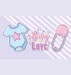 Baby love card vector