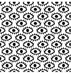 doodle eyes seamless pattern vector image vector image