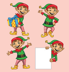 Elf christmas character vector