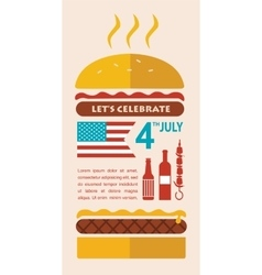 HAPPY independence day of America card or vector image