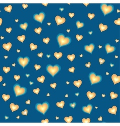 Seamless background with cartoon hearts vector image vector image