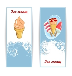 Vintage ice cream posters vector image