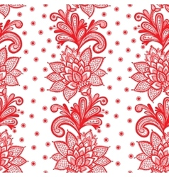 White seamless lace floral pattern vector