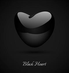 Black Heart vector image vector image