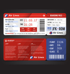 boarding pass design composition vector image