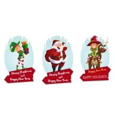 Christmas characters set vector image