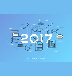 hot trends and predictions in global communication vector image