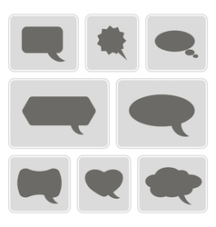 icons with bubbles for comics vector image vector image