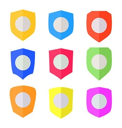 Set of Flat design Shields vector image vector image