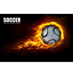 Soccer Fire Beckground vector image vector image