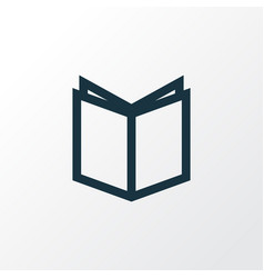 textbook outline symbol premium quality isolated vector image