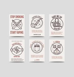 vape shop cards design vector image