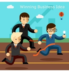 Winning business idea Success in innovation vector image