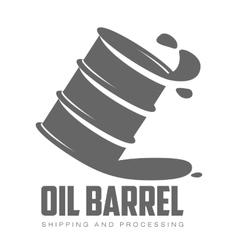 barrel of black oil vector image