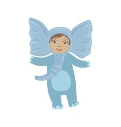 Boy Wearing Elephant Animal Costume vector image vector image