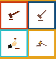 flat icon court set of court law tribunal and vector image vector image