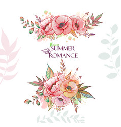 flovers summer romance vector image