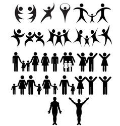 human symbol vector image