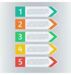 infographic arrows set vector image