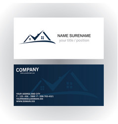 real estate logo business card vector image vector image