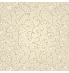 Vintage background with hearts ornament vector image