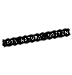 100 percent natural cotton rubber stamp vector