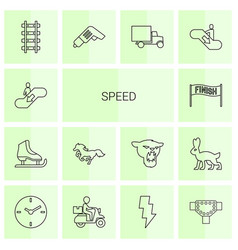 14 speed icons vector