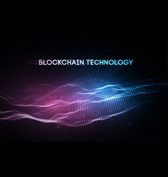 3d background blockchain technology vector