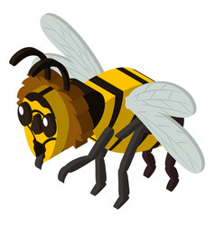 3d design for bee flying vector