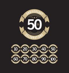 50 years anniversary celebration logo template vector