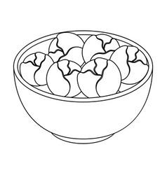 A plate of salad greensthe dark belgian wolf vector
