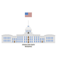 Aabama state capitol vector