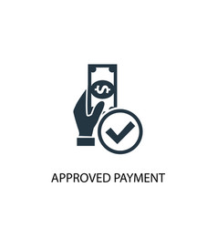 approved payment icon simple element vector image
