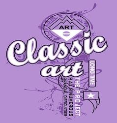 Art design with models classic art vector