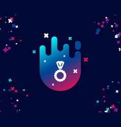 award medal simple icon winner achievement vector image