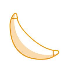 Banana fresh fruit isolated icon vector