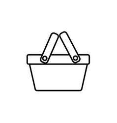 basket commerce shopping line image icon vector image