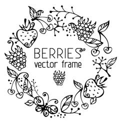Berries frame vector image