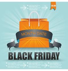 Black Friday sale design Eps10 vector image