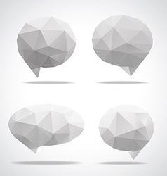 bright speech cloud and blobs vector image