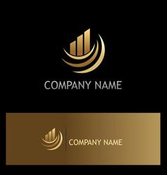 business finance progress gold company logo vector image vector image