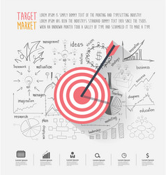 business target marketing dart idea vector image
