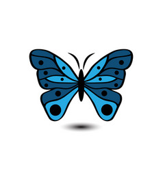 butterfly image white background vector image
