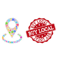 buy local marker composition of mosaic and vector image